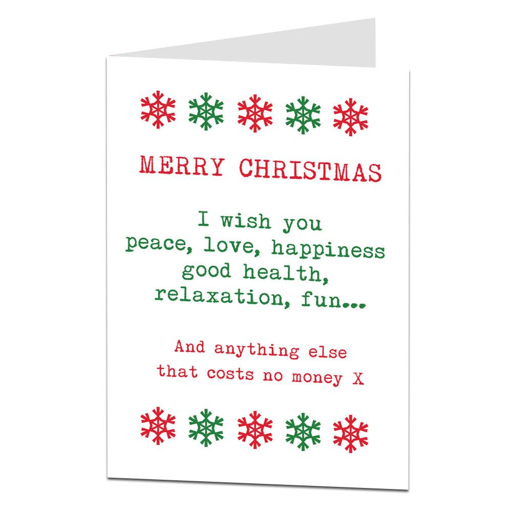 No Money Christmas Card