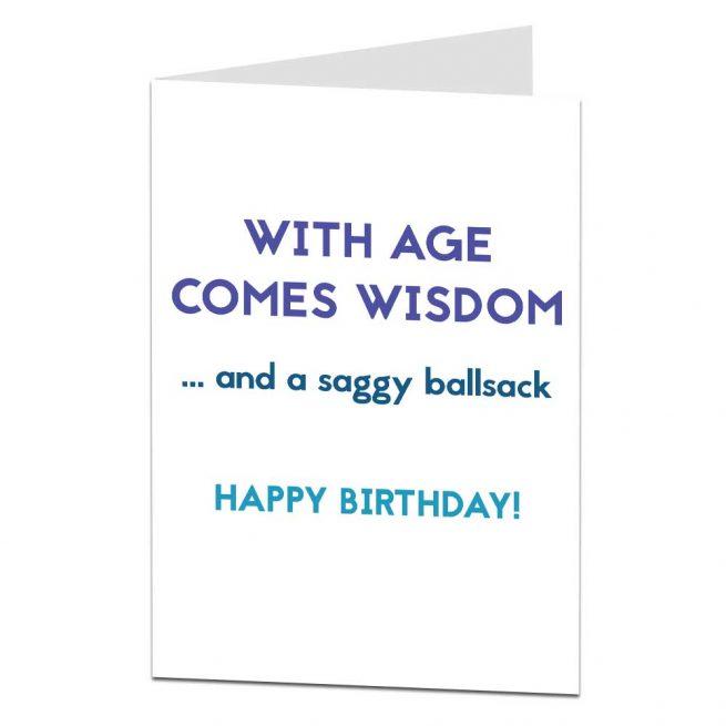 Saggy Ballsack Birthday Card