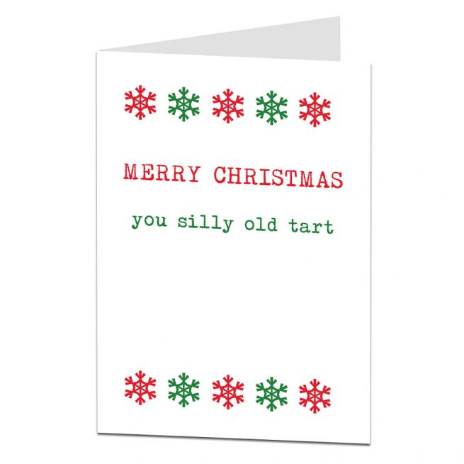 Silly Old Tart Christmas Card