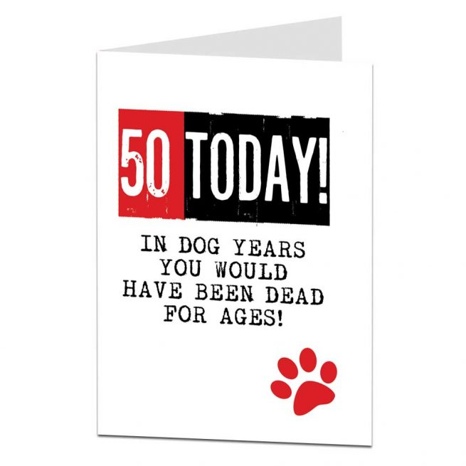 50th Birthday Card Funny