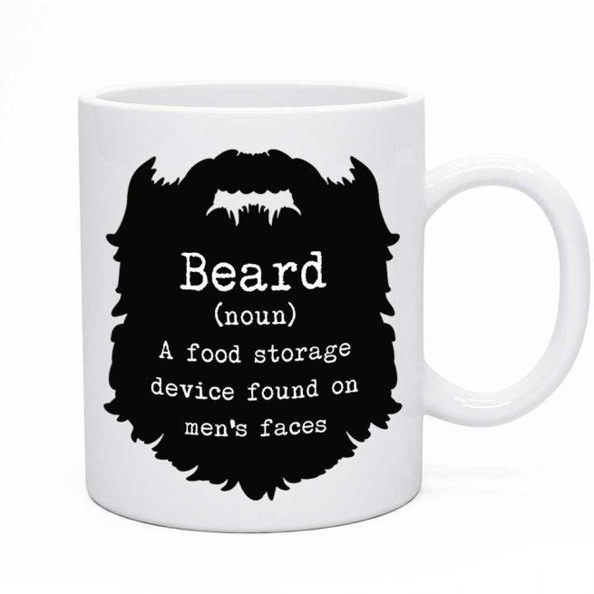 Funny beard mug
