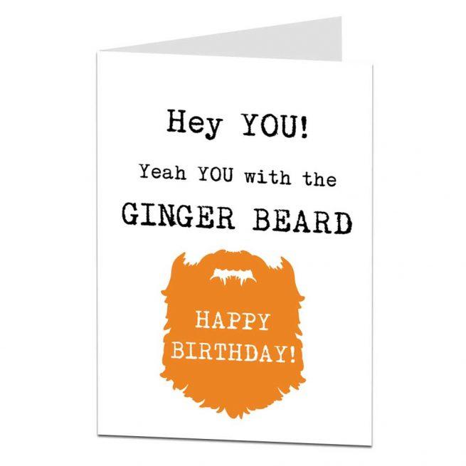 Ginger Beard Birthday Card
