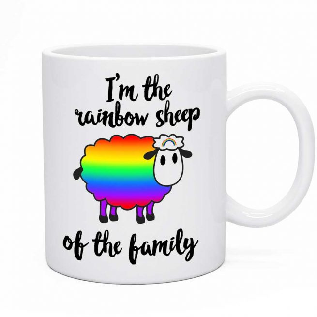 rainbow sheep mug