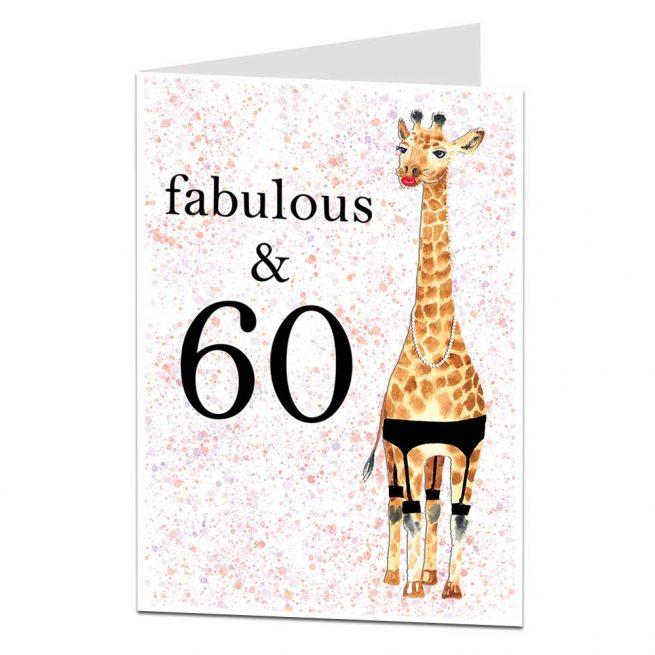Fabulous & 60 Birthday Card