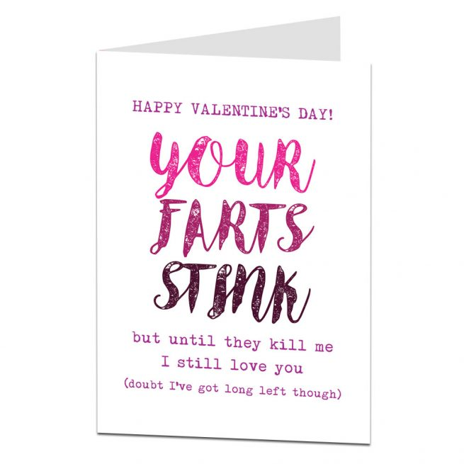 Rude Farts Valentines Card
