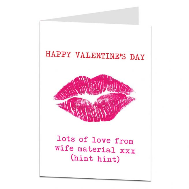 Funny Valentines Card Boyfriend