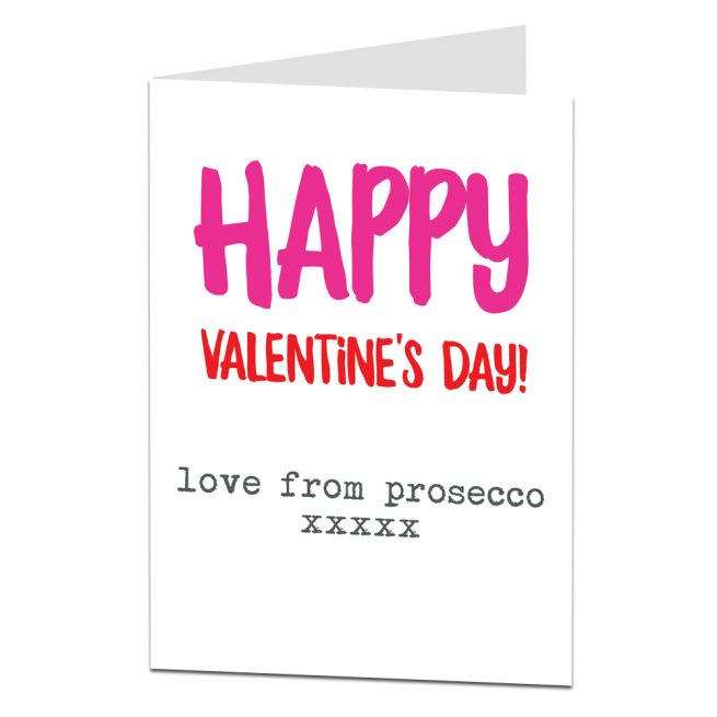 Valentine Card Love From Prosecco