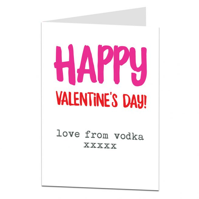 Love From Vodka Valentine's Card