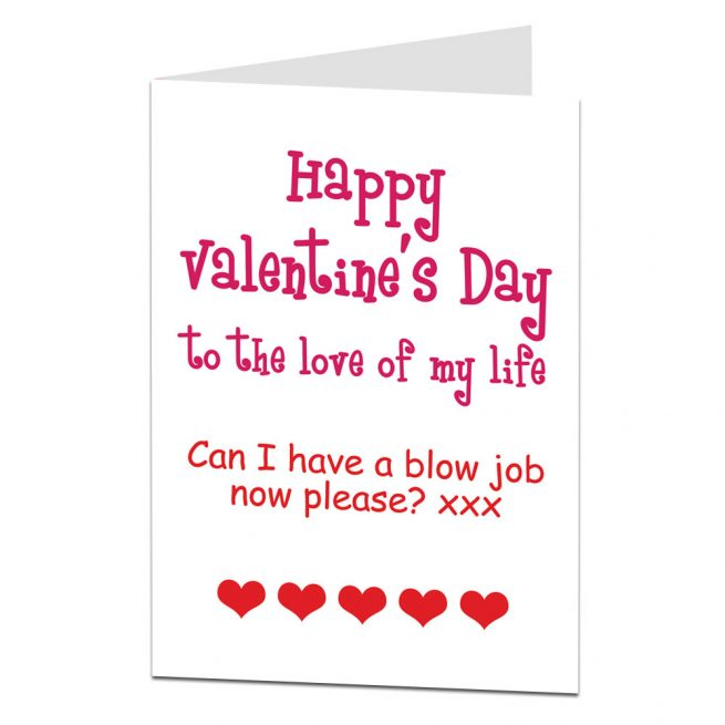 blow job valentines card