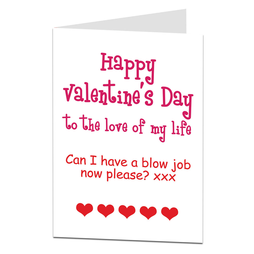 Rude Blow Job Valentine S Card For Her