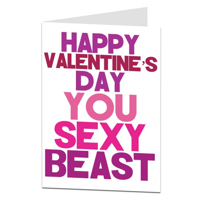Happy Valentine's Day Card Sexy Beast