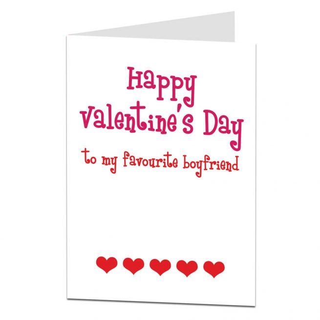 favourite boyfriend valentines card