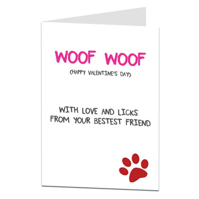 Valentines Card From The Dog