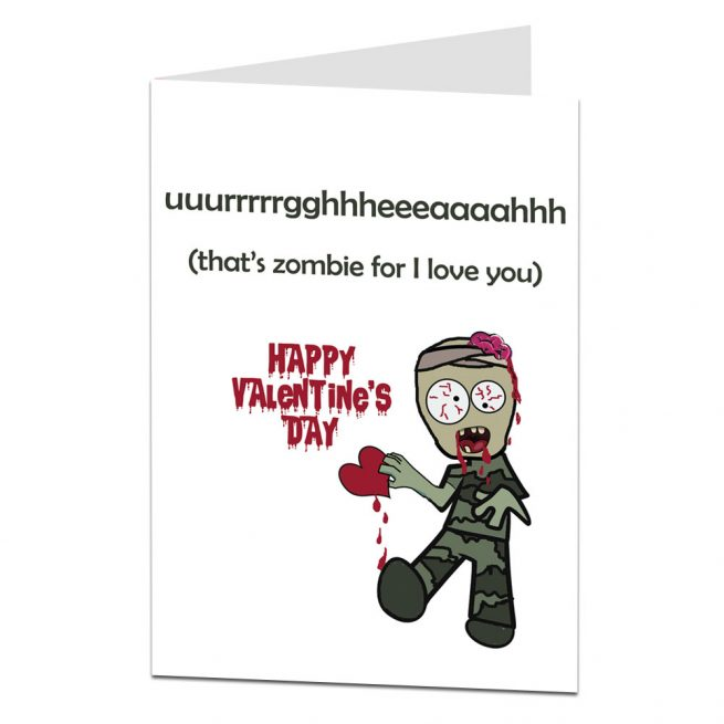 Zombie Valentines Card