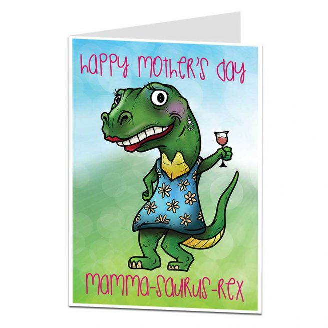 Dinosaur Mothers Day Card