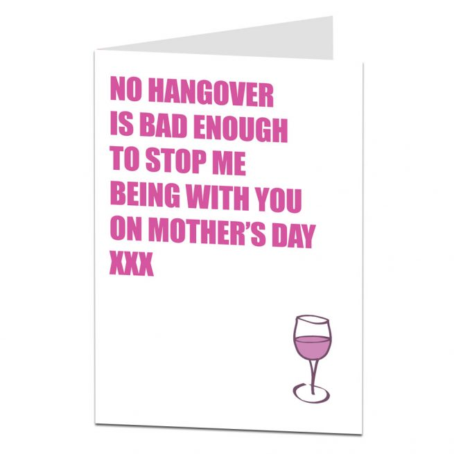 Funny Mother's Day Card Hangover
