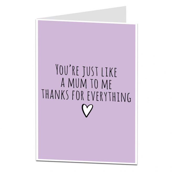 Like A Mum Mother's Day Card