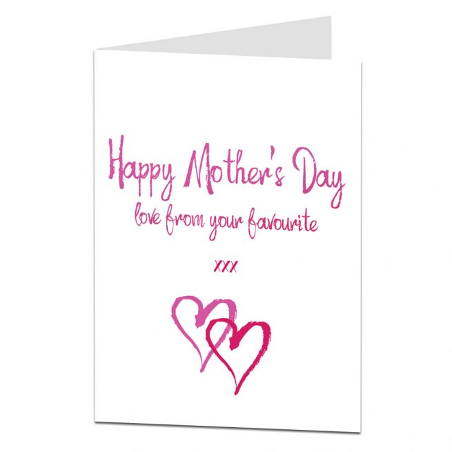 Mother's Day Card Love From Your Favourite