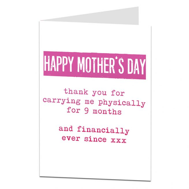 Mother's Day Card Financially