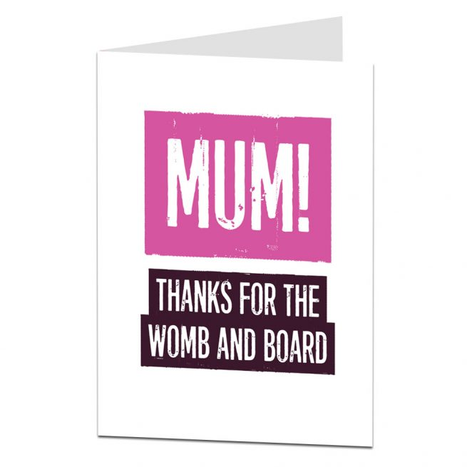 Womb & Board Mother's Day Card