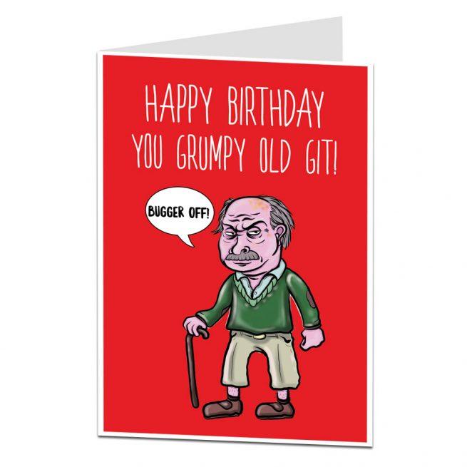 Grumpy Old Git Birthday Card