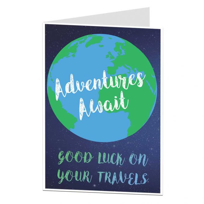 Good Luck On Your Travels Card