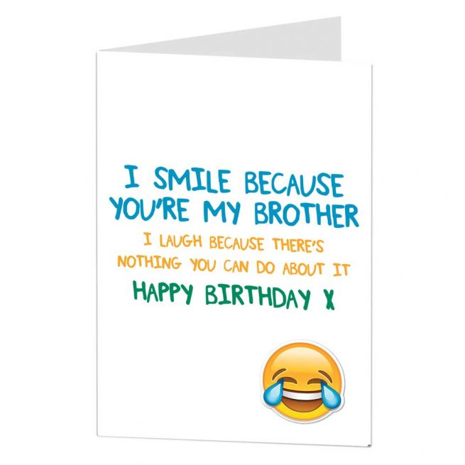 Funny Brother Card