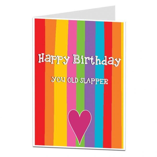 old slapper birthday card