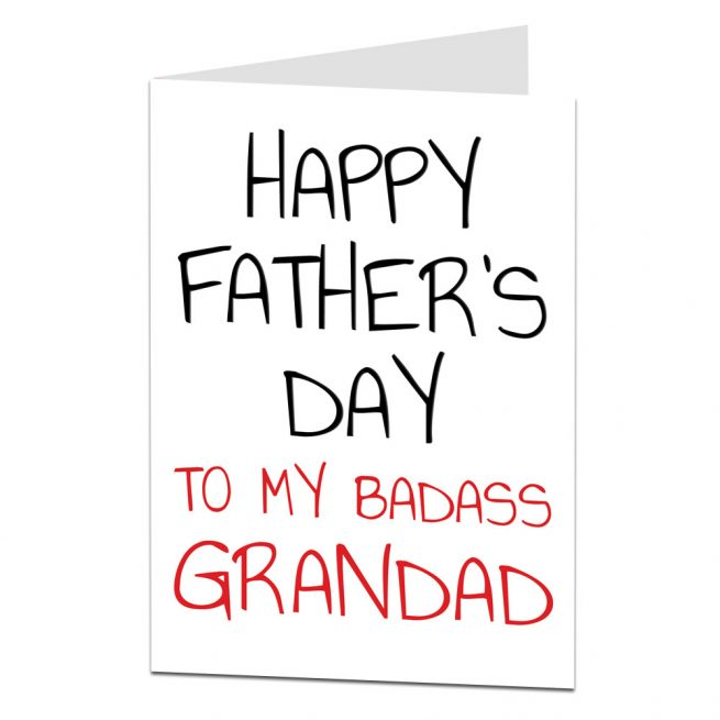 Badass Grandad Father's Day Card