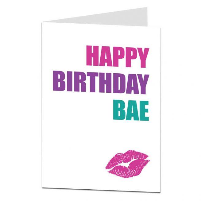 bae birthday card