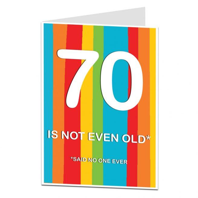 70th Birthday Cards