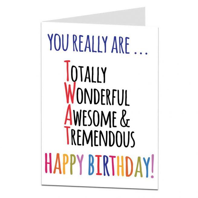 Funny Twat Birthday Card