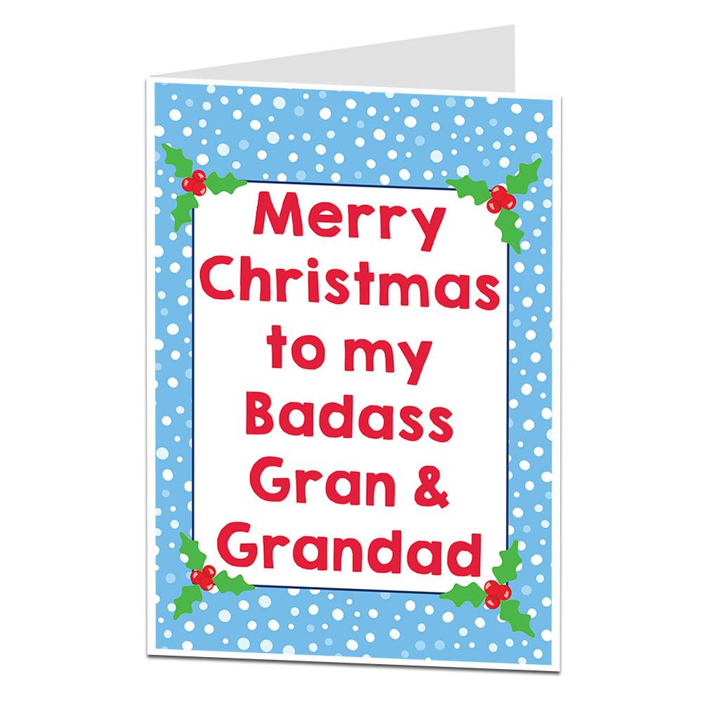 Badass Gran & Grandad Christmas Card