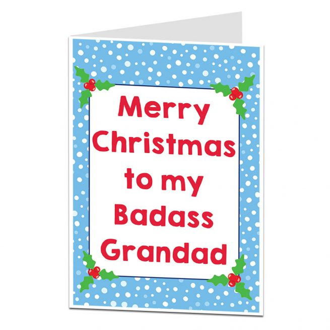 Badass Grandad Christmas Card