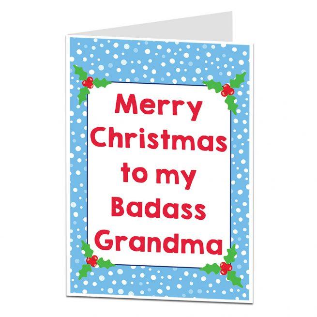 Badass Grandma Christmas Card
