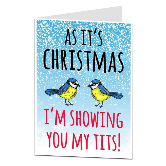 christmas tits funny card