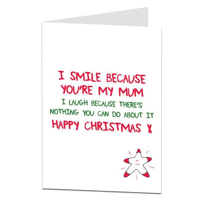 Cute Christmas Cards.Cute Christmas Card For Mum