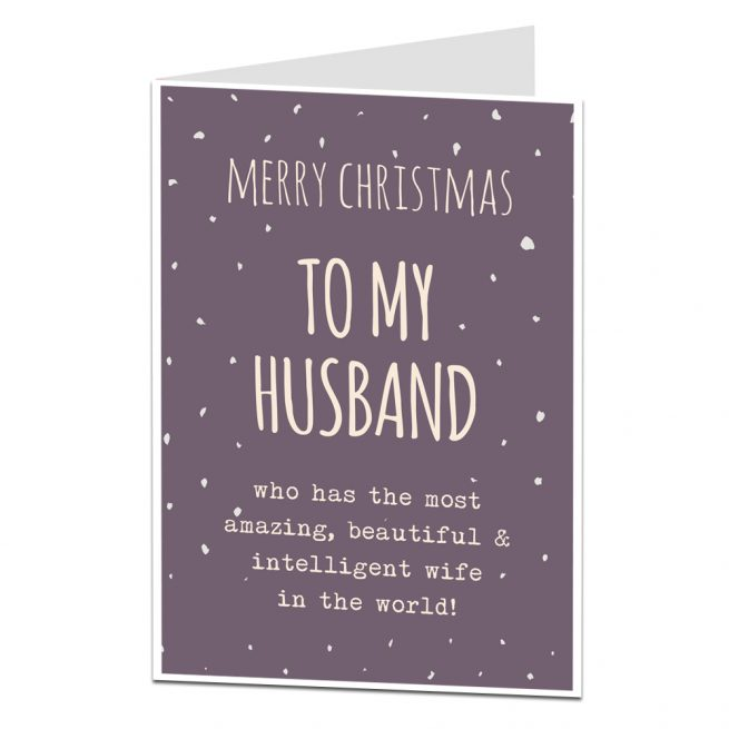 Funny Husband Christmas Card