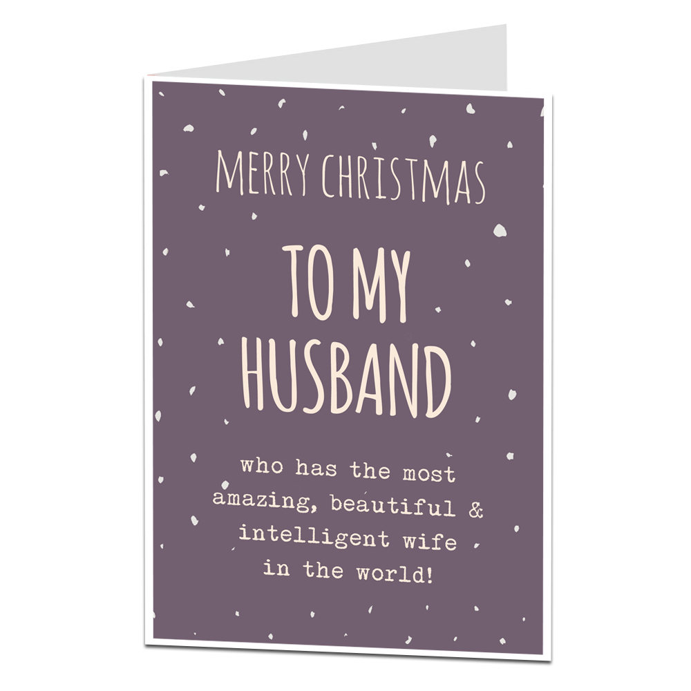 Husband Christmas Cards.Funny Husband Christmas Card