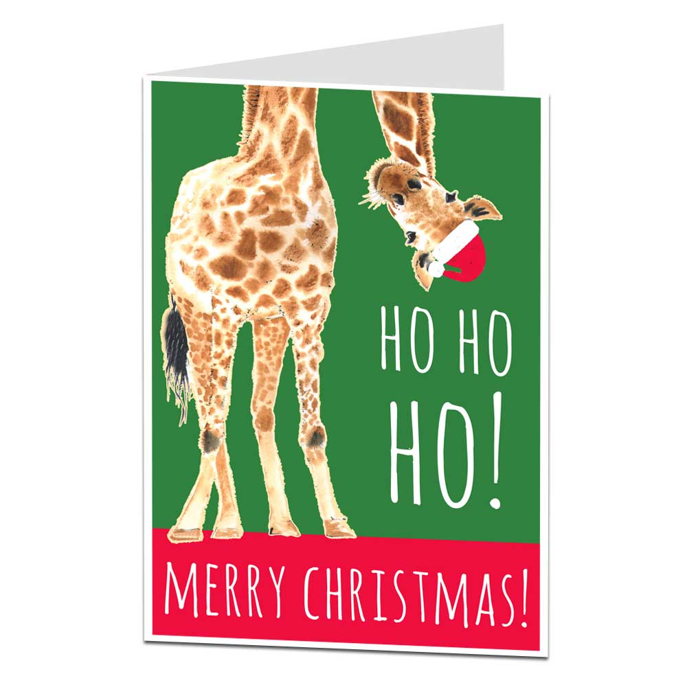 Cool Christmas Cards.Cool Giraffe Christmas Card