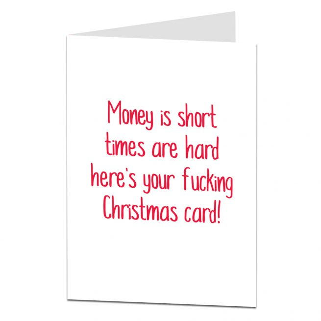 Money Is Short Christmas Card