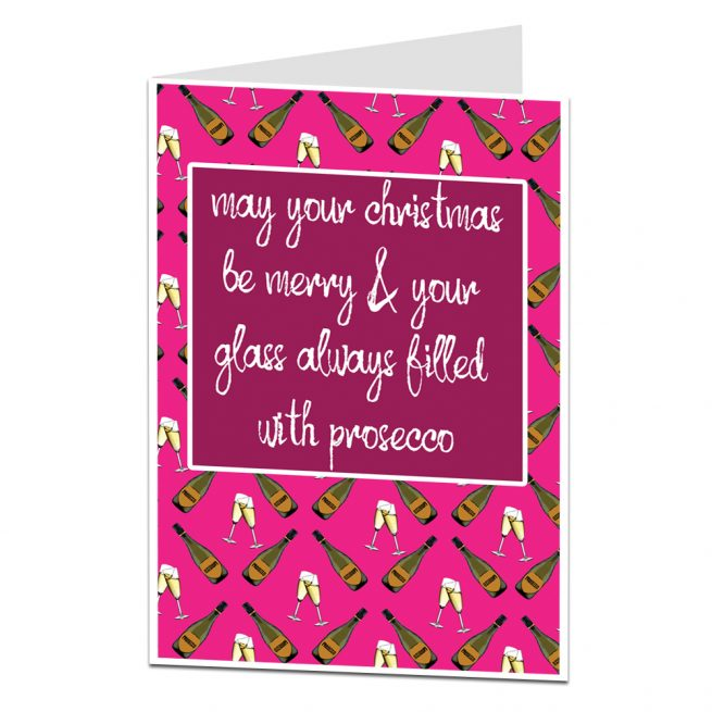 Prosecco Christmas Card