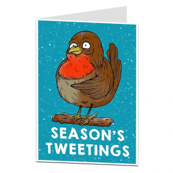Season's Tweetings Robin Christmas Card