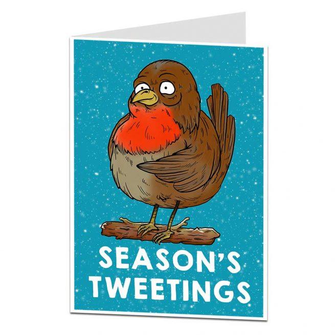 Season's Tweetings Robin Christmas Card