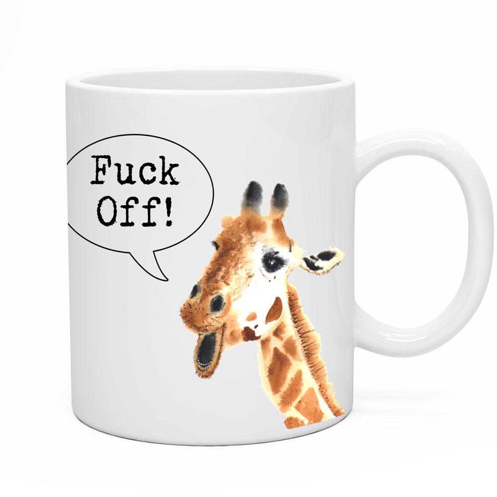 Fuck Off Giraffe Mug