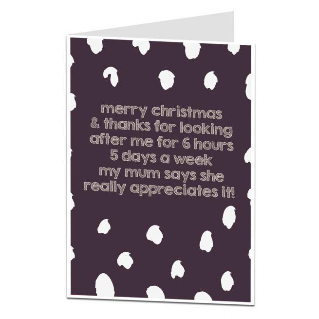 Christmas Cards For Teachers.Christmas Card For Teacher