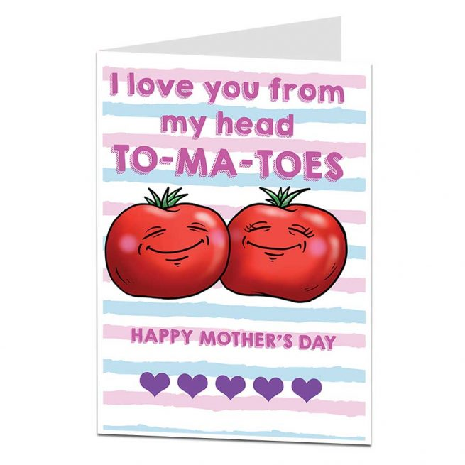 Tomatoes Mother's Day Card