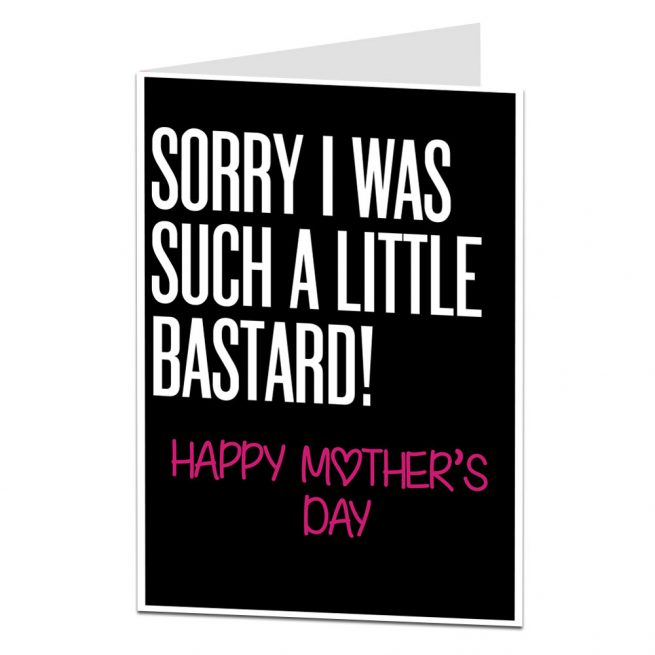 Little Bastard Mother's Day Card