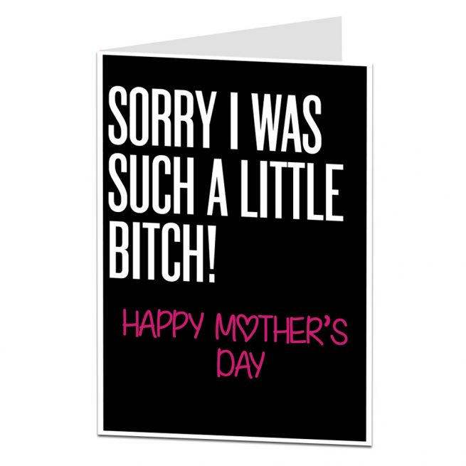 Little Bitch Mother's Day Card