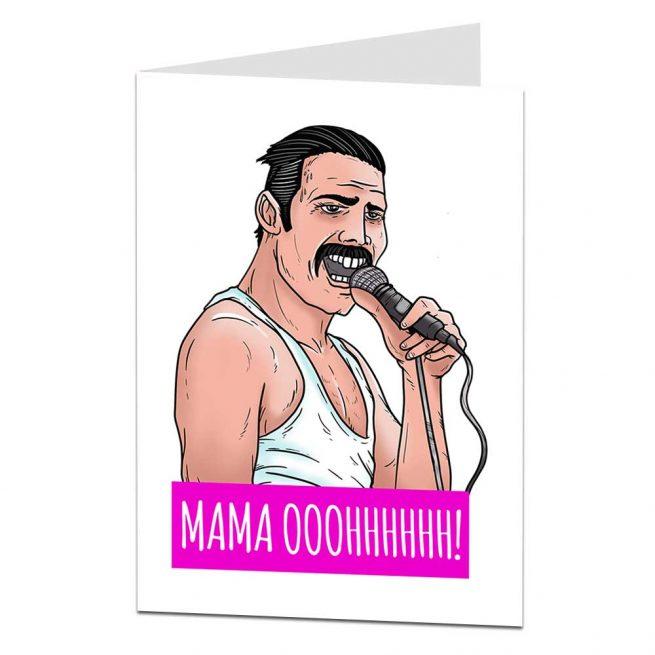 Mamma Ooohhh Freddie Mercury Greetings Card